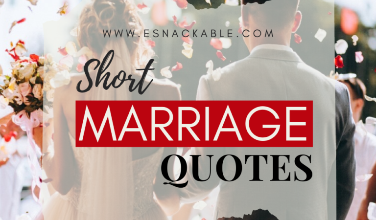 """"""" Short Marriage """" Quotes with Lessons"""